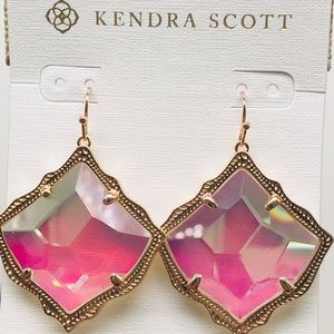 Kendra dichroic glass with rose gold
